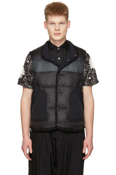 Junya Watanabe - Black Duvetica Edition Quilted Down Vest