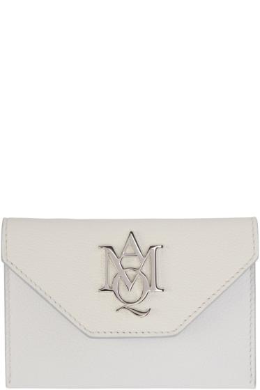 Alexander McQueen - Ivory Insignia Envelope Card Holder