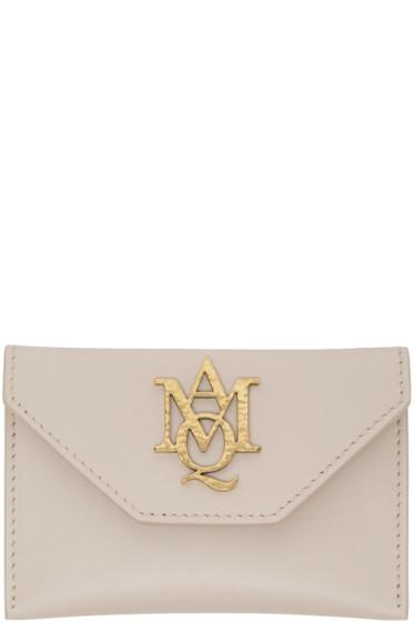 Alexander McQueen - Pink Insignia Envelope Card Holder