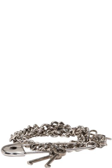 Alexander McQueen - Silver Three Chain Pin Bracelet