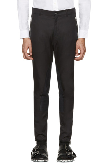 Alexander McQueen - Black Zip & Button Trousers