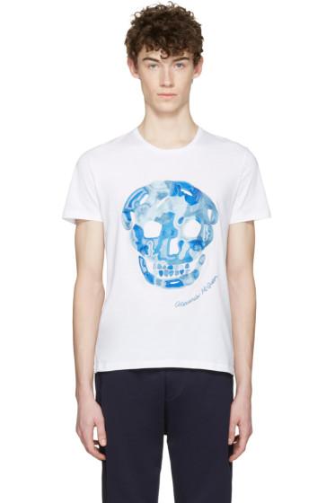 Alexander McQueen - White Large Skull T-Shirt