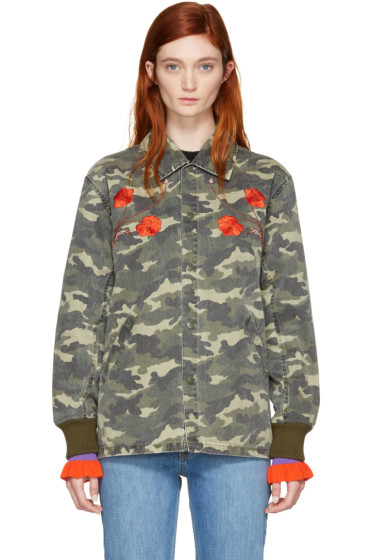 Opening Ceremony - Green Camo Tigers Coach Jacket