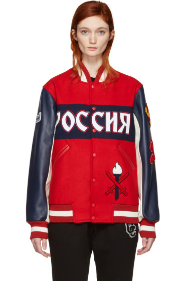 Opening Ceremony - Red Russia Global Varsity Jacket