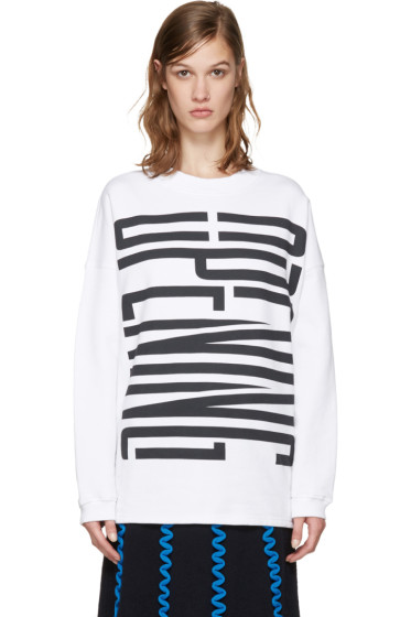 Opening Ceremony - White Graphic Logo Pullover