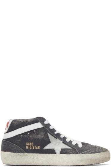 Golden Goose - Grey Suede Mid Star Sneakers