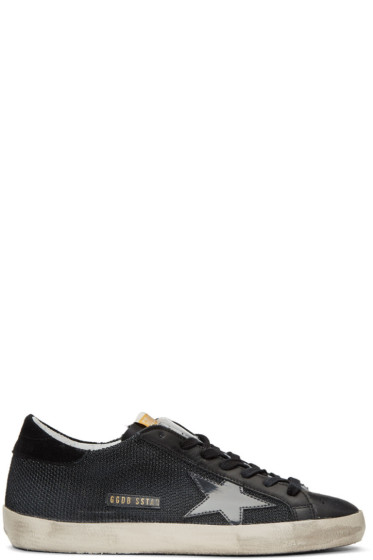 Golden Goose - Black Cord Superstar Sneakers
