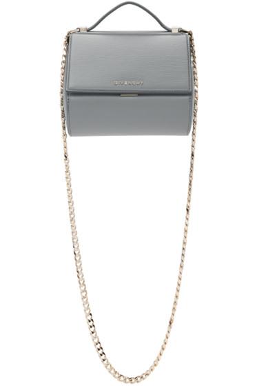 Givenchy - グレー ミニ チェーン パンドラ ボックス バッグ