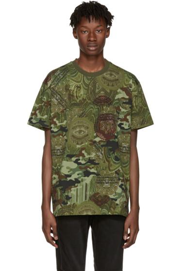 Givenchy - Green Camo Money T-Shirt