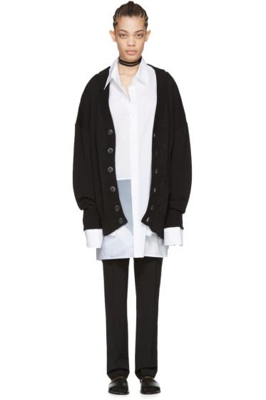 Raf Simons - Black Oversized Cardigan