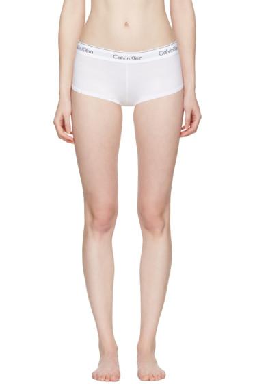 Calvin Klein Underwear - ホワイト モダン ボーイ ショーツ