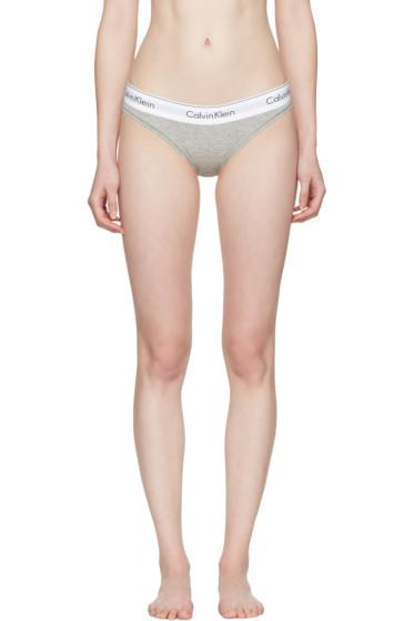 Calvin Klein Underwear - グレー モダン ビキニ ブリーフ