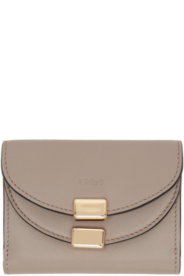 Chloé - Grey Square Georgia Wallet