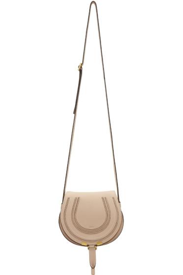 Chloé - ベージュ スモール マーシー サドル バッグ