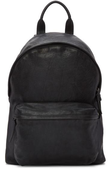 Officine Creative - Black Leather Backpack