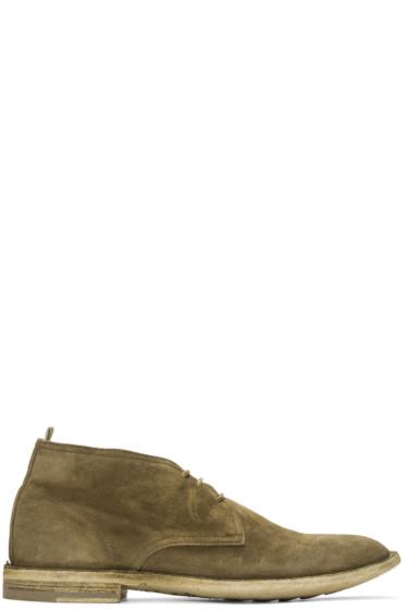 Officine Creative - タン スエード スタンダード 5 ブーツ