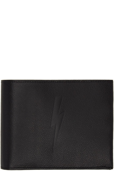 Neil Barrett - Black Thunderbolt Bifold Wallet