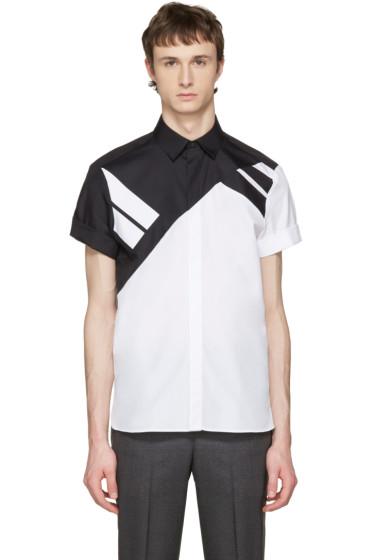 Neil Barrett - White & Black Retro Modernist Shirt