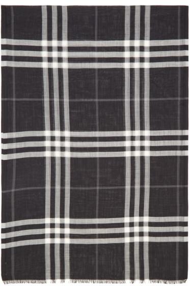 Burberry - ブラック ジャイアント チェック スカーフ