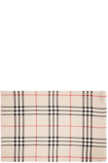 Burberry - Beige Giant Check Scarf