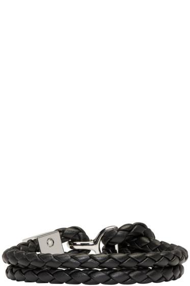 Burberry - ブラック ブレイド ブレスレット