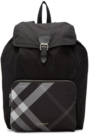 Burberry - Black Packable 'Solid to Check' Backpack