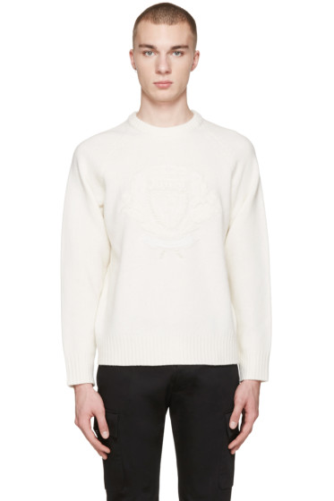 Burberry - White Wool Bexhill Sweater