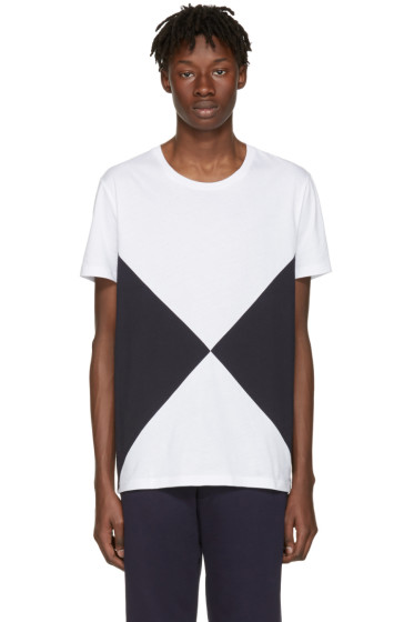 Burberry - White Fallow Flag Diamond T-Shirt