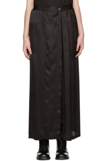 Ann Demeulemeester - Black Long Button Skirt