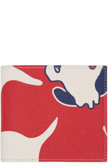 Thom Browne - Tricolor Floral Outline Billfold Wallet