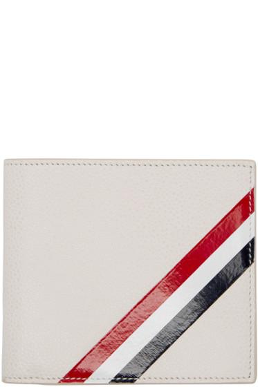 Thom Browne - Off-White Diagonal Stripe Wallet