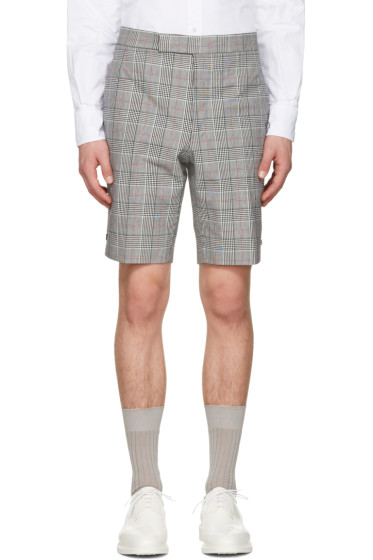 Thom Browne - Black & White Gingham Classic Backstrap Shorts