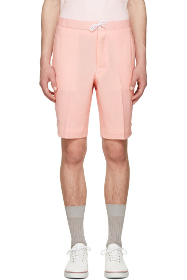Thom Browne - Pink Constructed Square Pocket Shorts