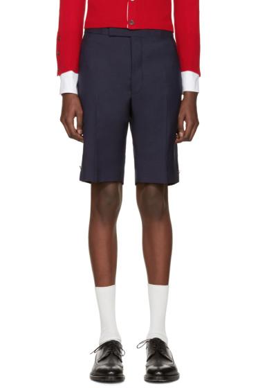 Thom Browne - Navy Classic Trompe L'Oeil Backstrap Shorts
