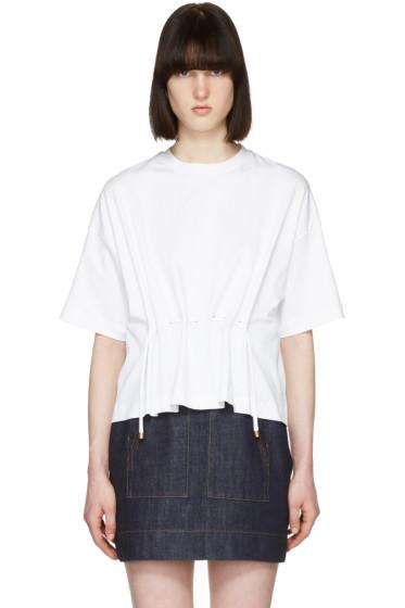 Kenzo - ホワイト ドローストリング T シャツ