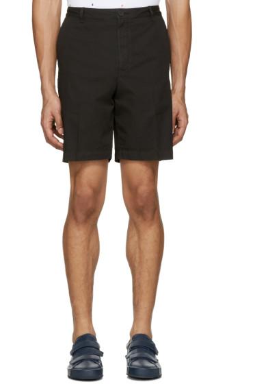 Kenzo - Black Embroidered Shorts