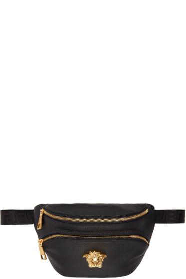 Versace - Black Leather Medusa Belt Pouch