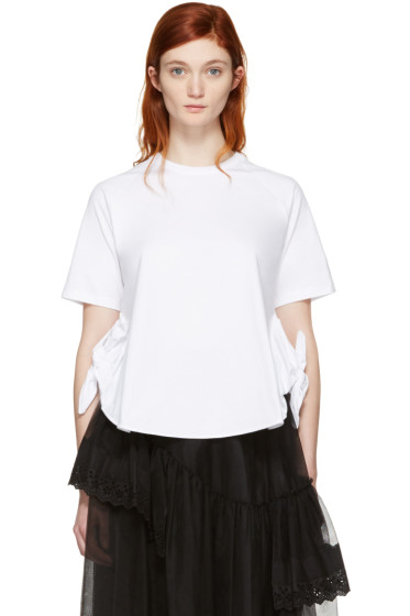 Simone Rocha - White Two-Knot T-Shirt