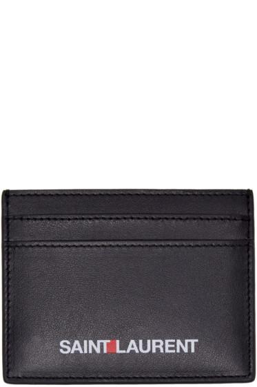 Saint Laurent - Black 'Saint Laurent' Card Holder