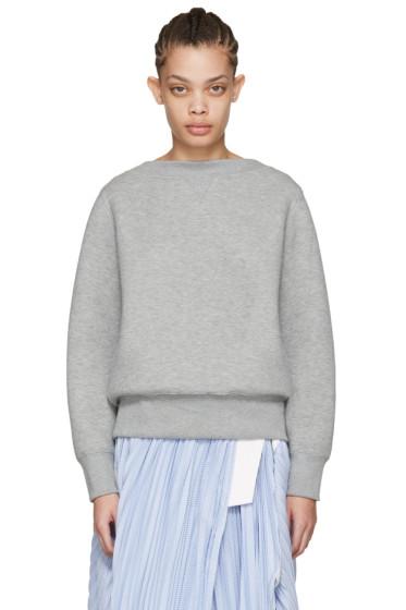 Sacai - Grey Tie Back Pullover