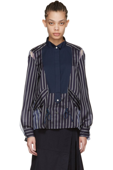 Sacai - Navy Striped Shirt
