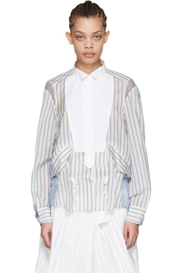 Sacai - Off-White Striped Shirt