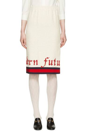 Gucci - Off-White 'Modern Future' Gardenia Skirt