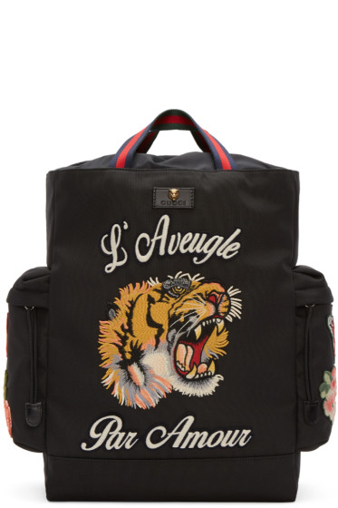 Gucci - Black 'L'Aveugle Par Amour' Techpack Backpack