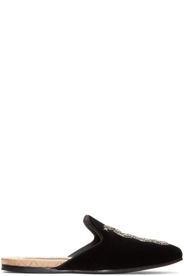 Gucci - Black Snake Slip-On Loafers