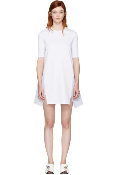 Stella McCartney - ホワイト コンボ T シャツ ドレス