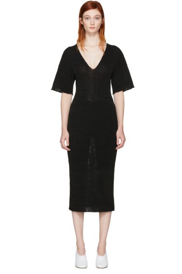 Stella McCartney - ブラック V ネック ドレス