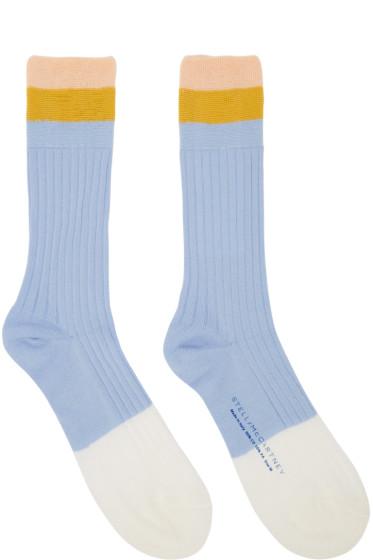 Stella McCartney - Blue Short Striped Socks