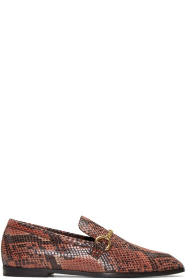 Stella McCartney - Red Tanka Loafers