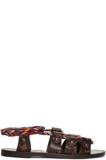Valentino - Brown Leather Santeria Sandals